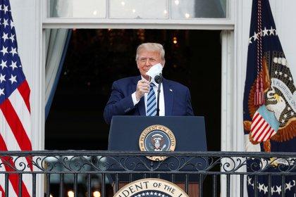 Donald Trump, en el balcón de la Casa Blanca