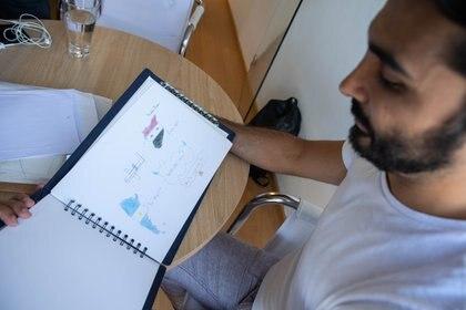 Los colores de Argentina y de Siria en los dibujos de sus alumnos