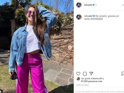 """Cuando parecía que se habían separado, Ivana Nadal publicó una foto y Bruno Siri le dio """"like"""""""