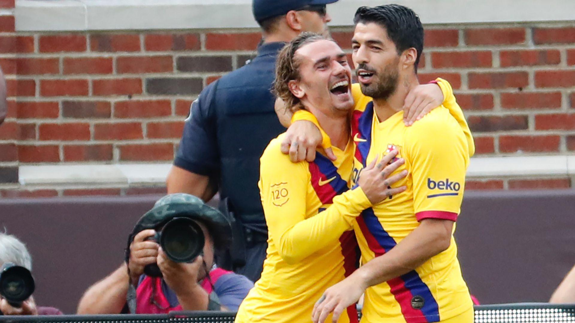 El francés Griezmann y el uruguayo Luis Suárez, las cartas goleadoras para el Barcelona en su estreno por la liga española (USA TODAY Sports)