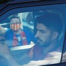 Soccer Football - FC Barcelona players arrive for Training - Ciutat Esportiva Joan Gamper, Barcelona, Spain - September 7, 2020 Barcelona's Luis Suarez as he arrives for training REUTERS/Albert Gea