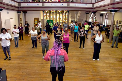 In a photo provided by Rutgers University, volunteers who participated in pre-pandemic dance classes in Newark, New Jersey, showed improvements in brain memory centers.  (Rutgers University via The New York Times): NO SALES;  FOR EDITORIAL USE ONLY WITH THE BRAIN OF SCI-WELL-PHYSED-NYT STORY BY GRETCHEN REYNOLDS FOR MARCH 8, 2021. All other use is prohibited.  -
