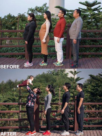 Las fotos del antes y después se viralizaron rápidamente (Fotos: XYJesse)