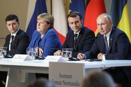Le potenze occidentali hanno espresso preoccupazione per le tensioni tra Russia e Ucraina (LUDOVIC MARIN / POOL / AFP)