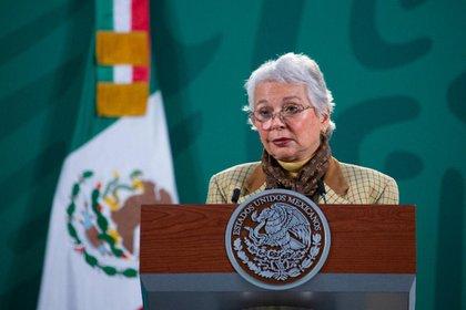 Olga Sánchez Cordero contra Salgado Macedonio: ninguna persona con temas de violencia debe ser candidato Foto: Presidencia de México.