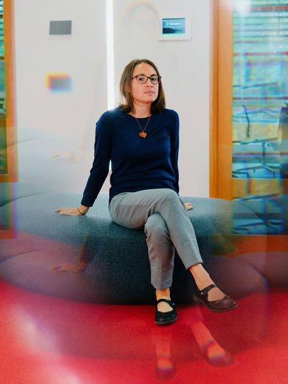 Laura Walker, directora de ciencias de anticuerpos en Adimab en Lebanon NHCrédito Kelly Burgess para The New York Times