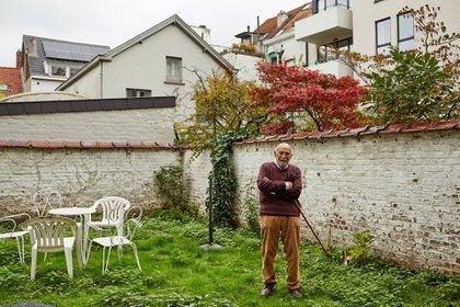 Gronowski en su casa en Bélgica