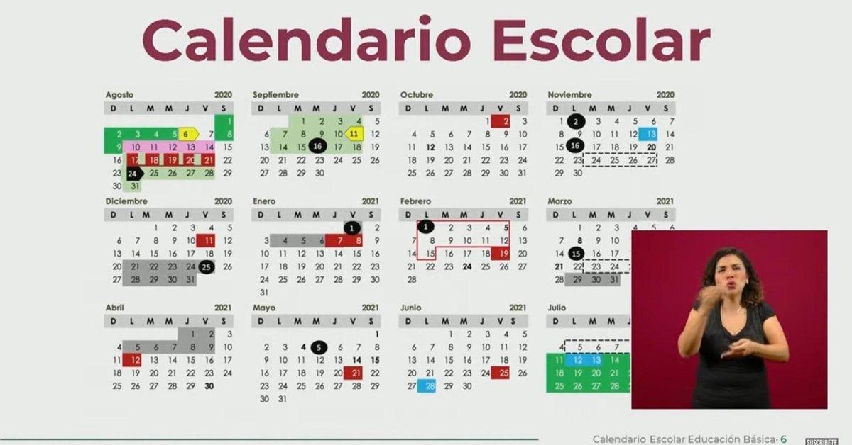 Cinco días de asueto y tres puentes: este es el calendario escolar