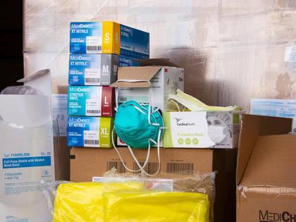 Arnot Health, en Elmira, Nueva York, está enfrentando precios altísimos para varios suministros médicos cruciales (Shane Lavalette/The New York Times)
