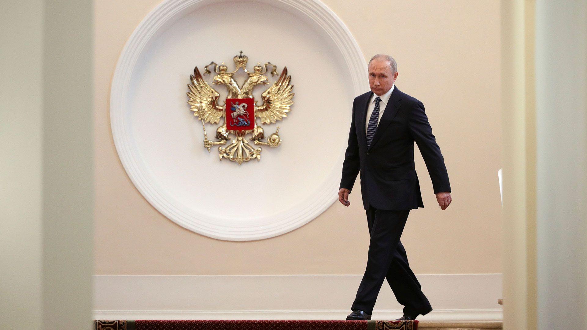 Vladimir Putin en el Kremlin, centro del poder en Rusia. (Reuters)