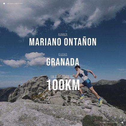 Uno de los participantes se comprometió a correr 100 km