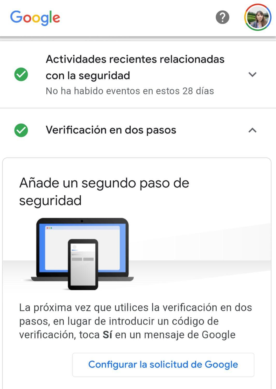 Gmail, Twitter, Instagram y casi todas las cuentas ofrece la opción de añadir un segundo factor de autenticación.
