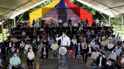 Juan Guaidó en una actividad pública en Caracas