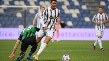 Cristiano Ronaldo marcó un gol para el triunfo de la Juventus y estableció un nuevo récord