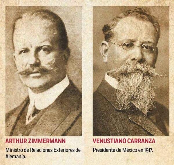 Zimmermann pretendía convencer al presidente mexicano Venustiano Carranza de declarar la guerra a EEUU. (Especial)