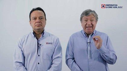 José Antonio Marín Y  Víctor Manuel Velázquez encabezan el grupo disidente (Foto: Captura de pantalla/ Twitter/ @CruzAzulSCL)