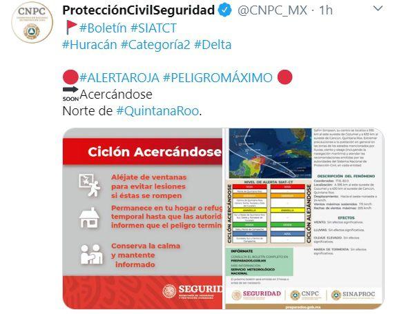 Alerta-roja-Delta-Mexico-Quintana-Roo-huracan