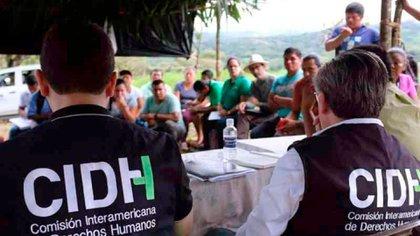 Funcionarios de la CIDH en trabajo de campo (Archivo)