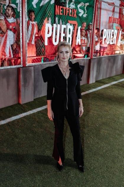 """Dolores Fonzi en la presentación de """"Puerta 7"""", la serie sobre las barras bravas que este viernes estrenó Netflix"""