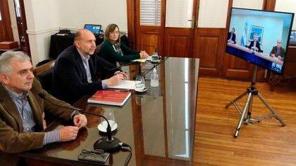 La semana pasada hubo una videoconferencia entre el presidente de la Nación y el gobernador de Santa Fe