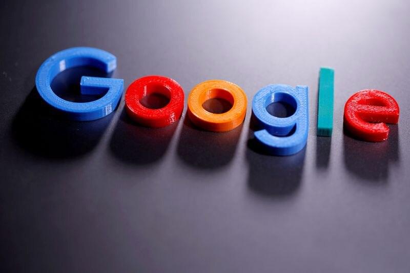 Foto de archivo de una impresion en 3D del logo de Google.  Abril 12, 2020. REUTERS/Dado Ruvic/Illustration