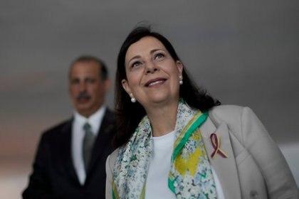 María Teresa Belandria, embajadora de Venezuela en Brasilia designada por Juan Guaidó (REUTERS/Ueslei Marcelino)