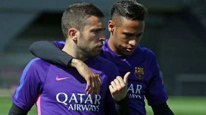 Jordi Alba habló sobre los rumores de Neymar y el Barcelona