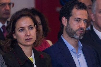 Emiliano y Cecilia Salinas Occelli, hijos del ex presidente Carlos Salinas de Gortari, (Foto: ISAAC ESQUIVEL /CUARTOSCURO)