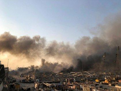 El humo tras la explosión (Reuters)