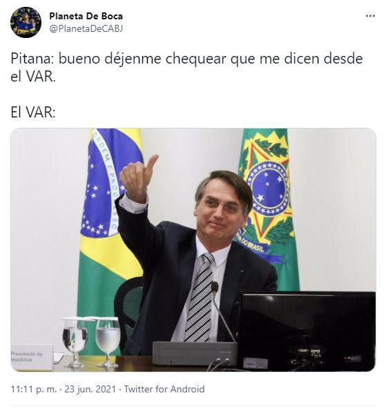 memes de Pitana por su actuación en Brasil vs Colombia por la Copa América