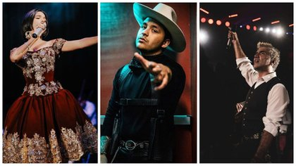 Los mexicanos que estarán en el Latin Grammy (Foto: Instagram @nodal, @alexoficial y @angela_aguilar_)