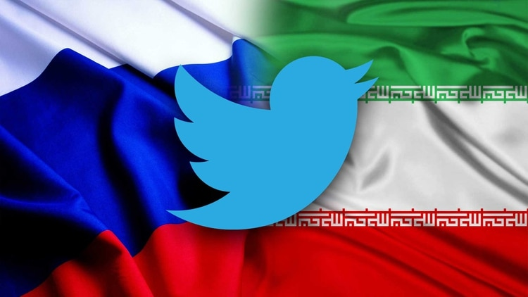 Twitter publicó datos sobre 4.541 cuentas vinculadas a Rusia e Irán que eran empleadas para influir en la política de países extranjeros.