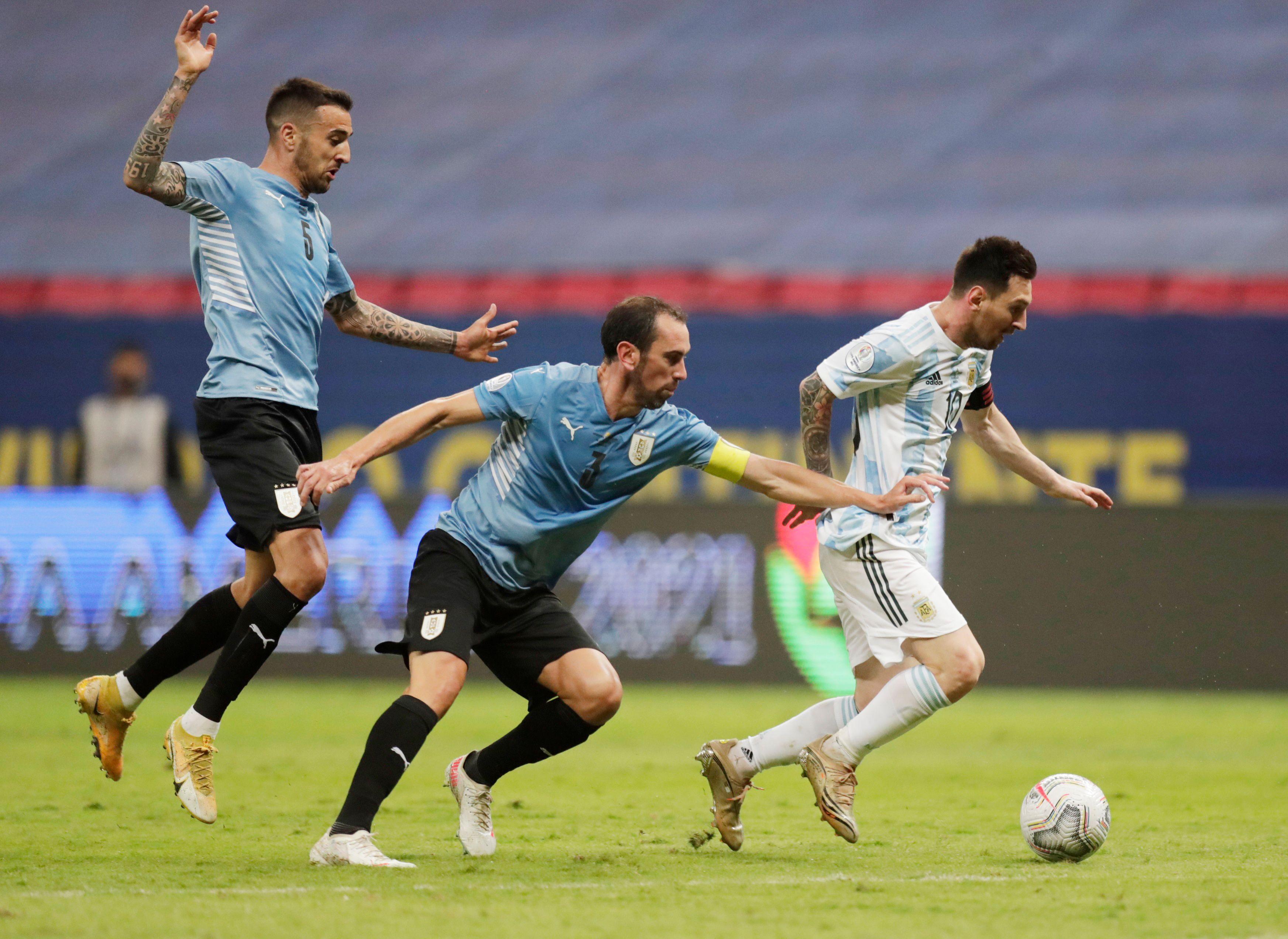 Argentina se impuso a Uruguay en la Copa América (Foto: Reuters)