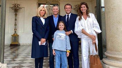 El encuentro de Macri y Macron se extendió durante una hora y media