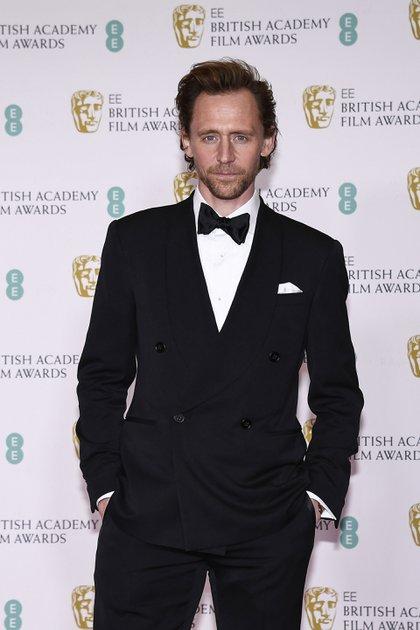 Tom Hiddleston fue uno de los actores que participó de la gala de premiación en Londres