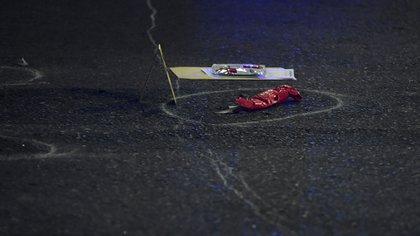 Escena del crimen: el filo envuelto en cinta aisladora con el que Roza mató a Roldán (Nicolás Stulberg)
