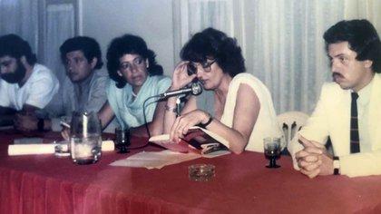 """Junto a Graciela Fernández Meijide el día que presentó su libro """"Juicio a la impunidad"""""""