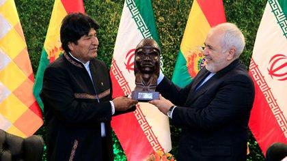 Evo Morales también se reunió con Zarif (EFE)