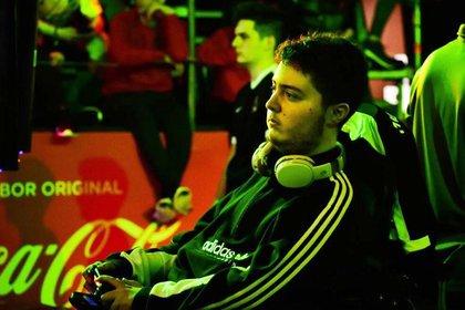 Santino durante el torneo de la AGS, Argentina Game Show, en octubre