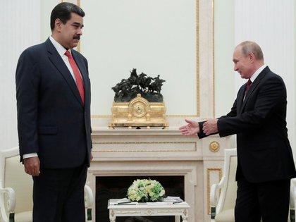 Nicolás Maduro y Vladimir Putin en Moscú, durante un encuentro en septiembre pasado (Reuters)