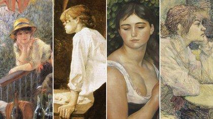 Suzanne Valadon, como modelo en cuatro pinturas de grandes artistas