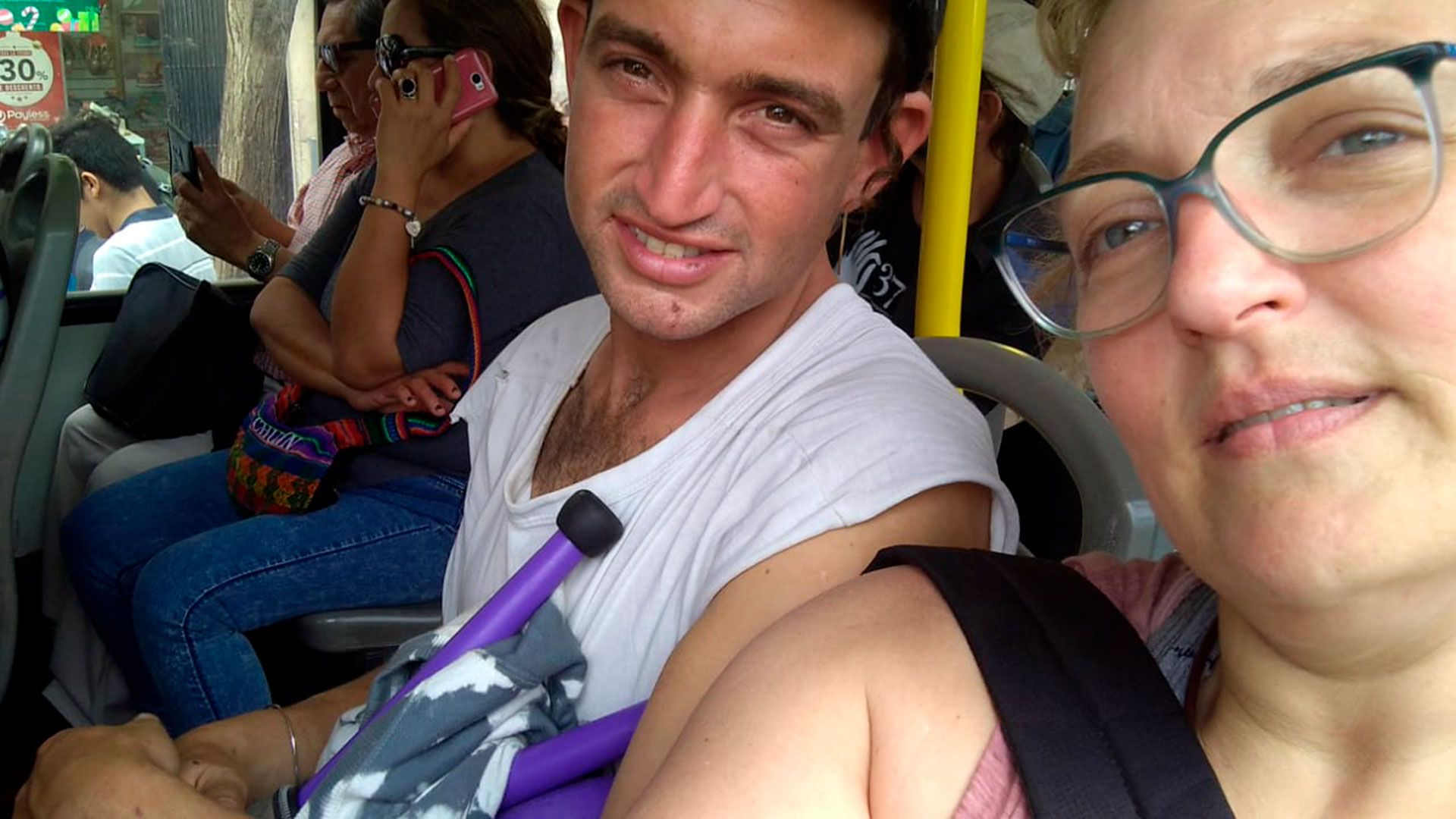 Fabiana estuvo con su hijo en Barranco, Perú, pero no pudo traerlo de vuelta.