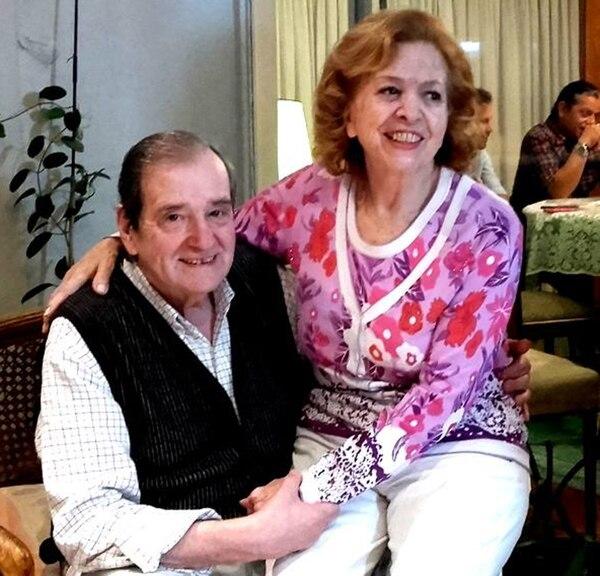 Y en la vida: Néstor y Violeta, en una foto de 2017