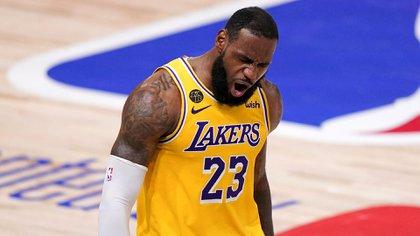 LeBron James busca su cuarto anillo de la NBA (AP Photo/Mark J. Terrill)
