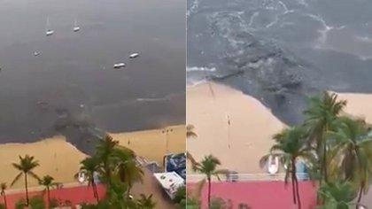 Aguas negras corrieron hacia el mar. (Foto: tomada de video)