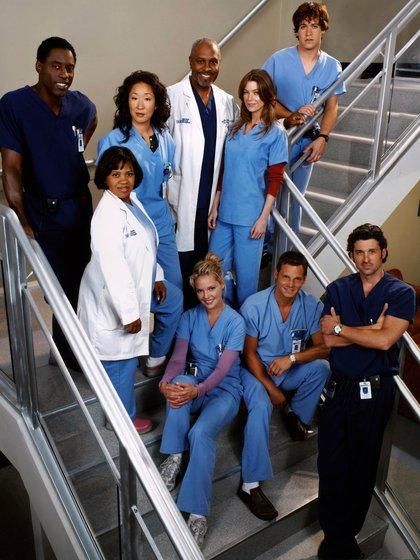 """El elenco de """"Grey's Anatomy"""" en 2005"""