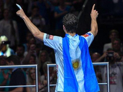 Diego Simonet dejó bien en alto la bandera argentina (Gentileza: Diego Simonet)