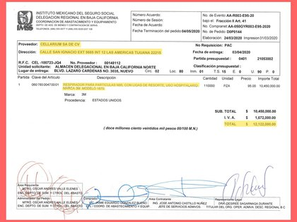 Contrato por 12 millones de pesos del IMSS con la empresa Cellarium