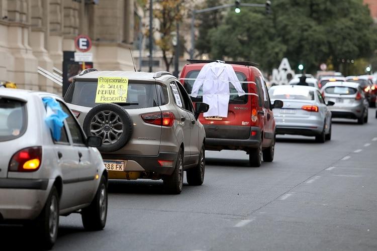 En Córdoba también se movilizaron los profesionales de la salud (Mario Sar)