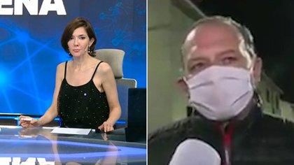 "Cristina Pérez vivió un incómodo momento en vivo con Sergio Berni: ""No tiene necesidad de descalificarme"""